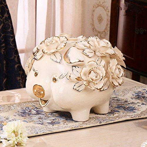 Piggy bank ceramic deposit pot adult creative piggy bank coin cute animal child deposit pot-A 27x27x24cm(11x11x9inch) by BABAPIGGYBANK