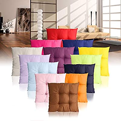 VNUS Soft Comfortable Home Office Patio Chair Sofa Cushion Pillow 40x40cm Seat Dog Pads Garden Outdoor Furniture Decor (40x40cm, Plum): Kitchen & Dining