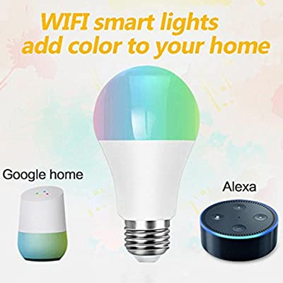 SUJING LED Smart Light, WiFi Smart Light Bulb Dimmable LED Light Compatible with Alexa and Google Assistant