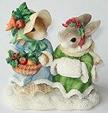 "My Blushing Bunnies ""Hope Brings A Bountiful Harvest"" # 178632 Girls With Fruit Basket Figurine"