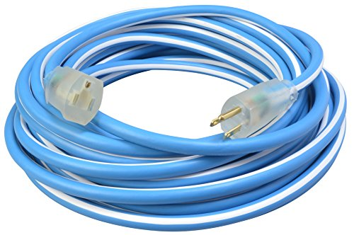 Southwire 1639SW0061 12/3 100' SJEOW Supreme Extension Cord, Blue/White (Best Extension Cord For Cold Weather)