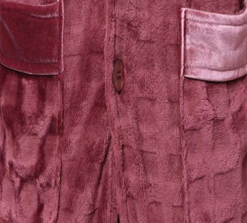 Pile Zjexjj Pigiama Da Caldo L Autunno In Corallo Servizio Flanella E Maschile Abbigliamento Casa Dimensioni Brown colore Spessore Inverno Di Uomo FnF8wxr