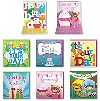 Amazon assorted handmade pop up birthday cards 6 pack box assorted handmade pop up birthday cards 6 pack box set for him dad bookmarktalkfo Gallery