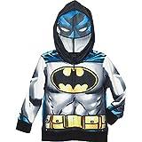 Superhero Little Boys' Zip-Up Fleece Hoodie With Mesh Mask