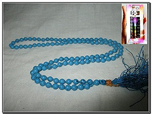 Best Quality Turquoise Japa Mala 7-8 mm 108 + 1 Prayer A++ Beads Meditation Concentration Healing Blessed Energized Yoga Mantra Worship God Best Quality Semiprecious Stones w/ Pouch India Altar Asia Tibet Nepal Genuine Authentic Original Family Bonding Business Success Love Care Relationship Christmas Easter Birthday Event Peace Power Progress Prosperity Positive Energy Mental Strength Divine Spiritual