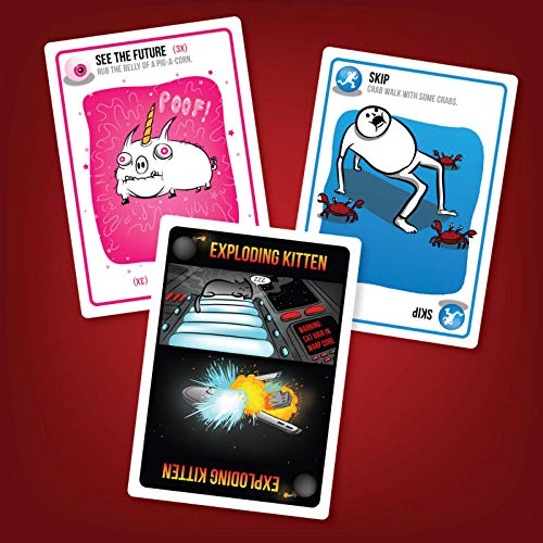 Exploding Kittens Card Game - Family-Friendly Party Games...
