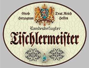 Cartel de madera Carpintería Meister–cartel Hesse (XXL 36x 28cm)