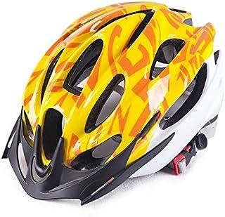 HSDDA Casco Deportivo Hombres Mujeres ventilación porosa Casco de Bicicleta de montaña de una Pieza Casco de Bicicleta (Amarillo) Proteja su Cabeza