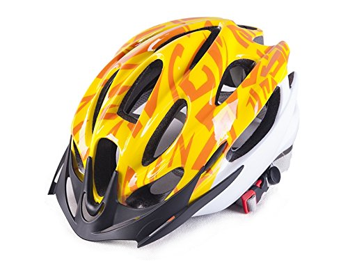 Yunqir Men Women Porous Ventilation Mountain Bicycle Helmet One-Piece Bike Helmet(Yellow) by Yunqir