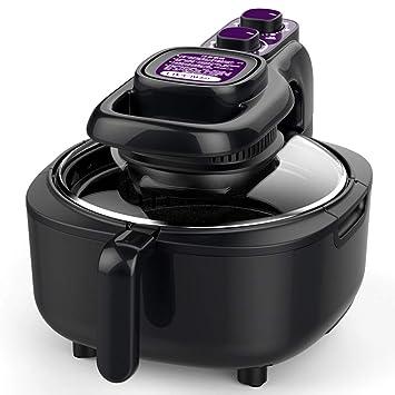 Freidora de aire inteligencia doméstica sin humo máquina de papas fritas de gran capacidad freidora completamente automática circulación de aire calienteB: ...