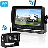 Digital Wireless Backup Camera For RV/Car/Truck/Trailer with 7Monitor System No Interference Rear/Side/Front View Camera Continuous/Reverse Use Opional IP69K Waterproof Night Vision