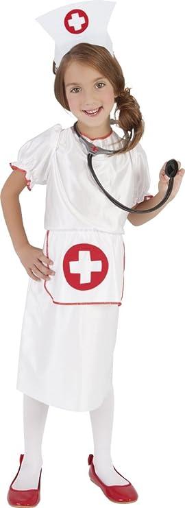 Disfraz de Médico Enfermera para niña, infantil 5-7 años (Rubies ...