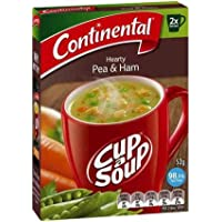 Continental Cup A Soup Hearty Pea & Ham, 2 serves each, 7 x 52g