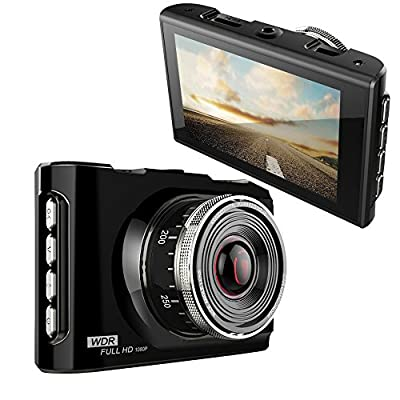 """SV S108 HD Dash Cam Full Zinc Alloy Metal Body 170 Wide Angle Car DVR Dashboard/Windshield Camera with Superior Night Vision,Parking Monitor,Full HD 1080P with G-Sensor for Auto-Recording 3.0"""" Screen"""