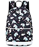 School Backpack for Girls Student Bookbags Laptop Rucksack School Bags with Shoulder Bag Travel Casual Daypack Teen Black