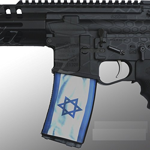 Ultimate Arms Gear AR Mag Cover Socs for 30rd Steel/Aluminum USGI Mags, ISRAEL Wavy Star of David White Blue Country State (Israel Cover)