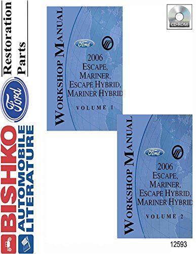 bishko automotive literature 2006 Ford Escape Mercury Mariner Gas and Hybrid Shop Service Repair Manual CD