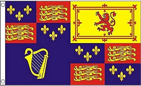 AZ FLAG Bandera Real del Reino Unido CASA DE ESTUARDO 150x90cm - Bandera ESTANDARTE del MONARCA BRITÁNICO 90 x 150 cm: Amazon.es: Jardín