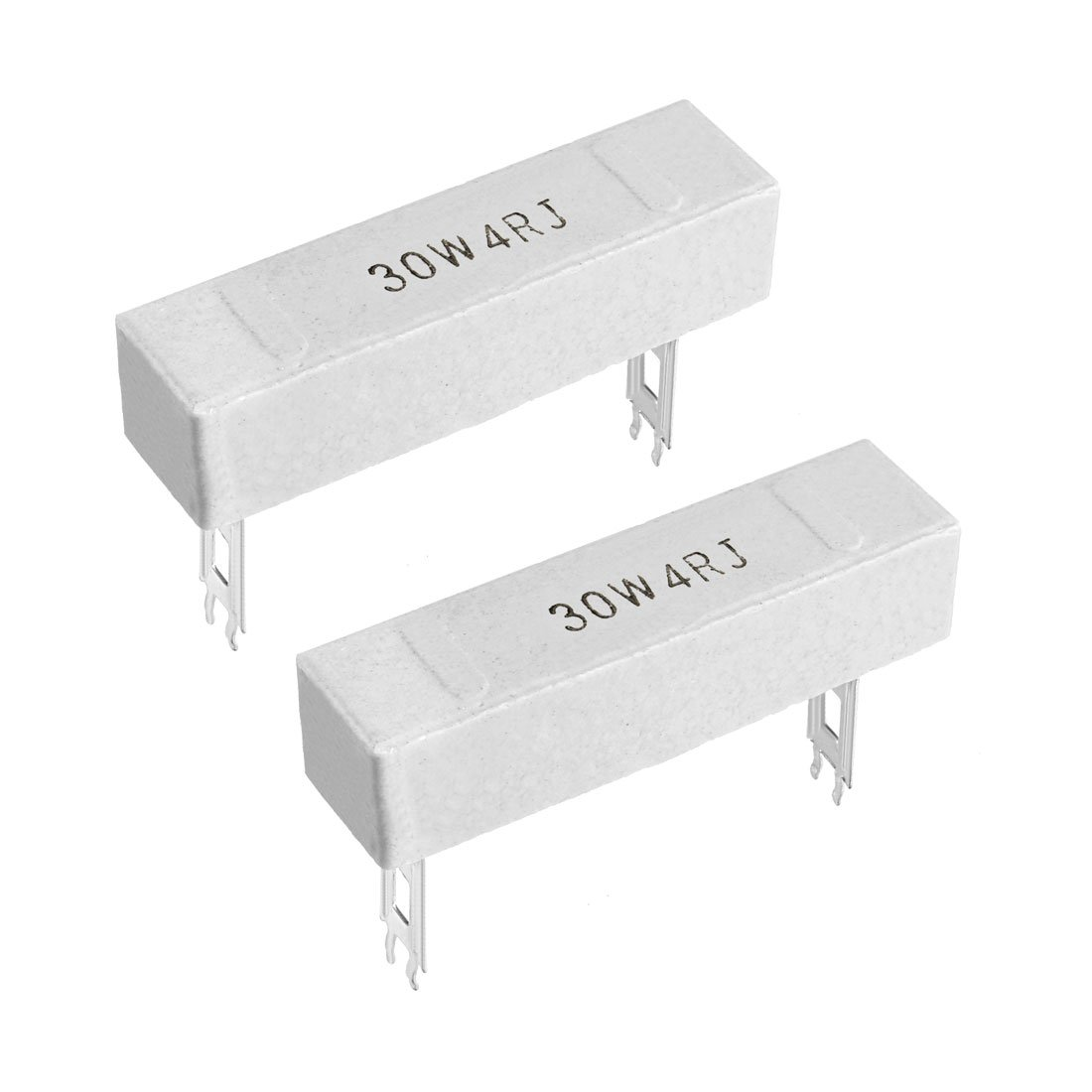 uxcell 30W 20 Ohm Power Resistor Ceramic Cement Resistor Axial Lead White 2pcs
