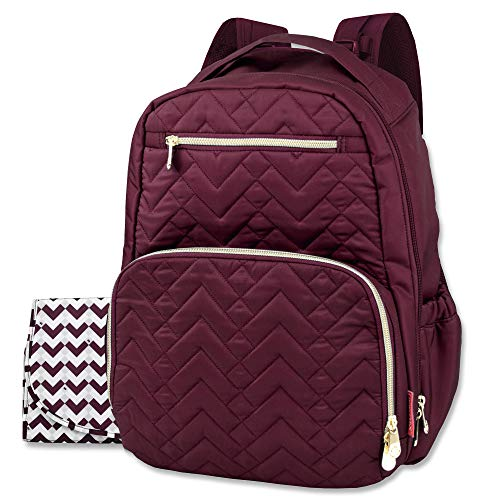 Fisher Price Morgan Diaper Bag Backpack (Burgundy)