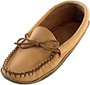 Bastien Industries Women's Earthing Grounding Natural Moosehide Leather Mocca