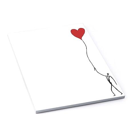 Papel de cartas (Corazón de humanos DIN A4 Blanco y Negro Rojo, 50 hojas