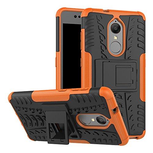 OFU®Para Lenovo K8 Plus Smartphone, Híbrido caja de la armadura para el teléfono Lenovo K8 Plus resistente a prueba de golpes contra la lucha de viaje accesorios esenciales del teléfono-Rose Red naranja