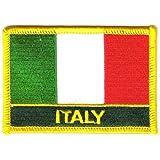 Flaggen Aufnäher Patch Italien Schrift Fahne NEU