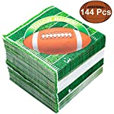 JOYIN 144 Count Touchdown Football Game Day Themed Paper Napkins Football Party Supplies (6.5X6.5 Inches)