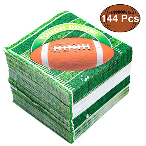 Buy Cheap JOYIN 144 Count Touchdown Football Game Day Themed Paper Napkins Football Party Supplies (...