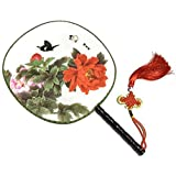 Attractive Chinese Round Fan Classical Dancing Dan With Beautiful Pattern, #10