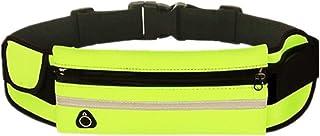 Joyfeel buy Bolsa para Correr Cintura Ejercicio de Bolsa Impermeable Ajustable Resistente al Agua Bolso Amarillo con Cremallera para Mujer