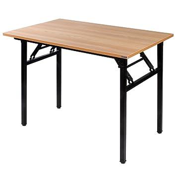 Needhome Klapptisch Computertisch 100 X 60 X 75 Cm Pc Schreibtisch