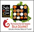 Baja Gourmet Sea Salt Sampler Capturing the Soul & Sizzle of the Baja Mexican Cuisine. Presented in a clear plastic case with descriptions of each sea salt.