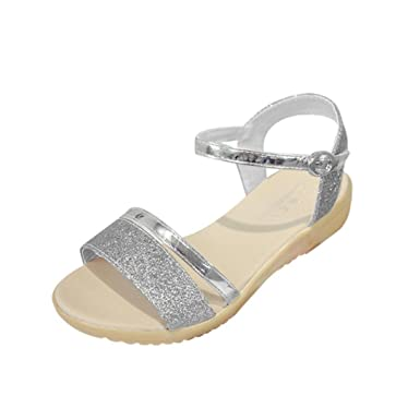 27412ff66ccc WOCACHI Vanlentine Day Women Shoes Sequins Flat Heel Anti Skidding Beach  Shoes Sandals Slipper Silver
