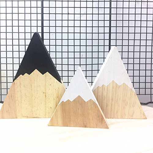 Gold Happy Nordic Top Woodland Wood Mountain Decorative Handmade Kids Bookends Home Decor Wooden Mountain Children's Room Decoration Blocks by Gold Happy (Image #5)