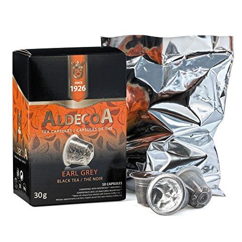 Aldecoa Nespresso Tea Capsules, Earl Grey Black Tea, 10 Count (Pack of 4)