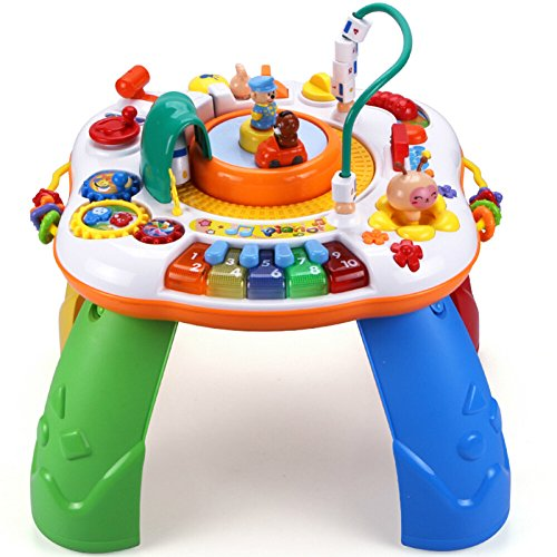 INvench Baby Activity Center Education Toy - High Speed Train Sit to Stand Activity Table for Baby Toddler 1 Year Old