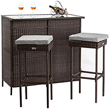 Amazon Com Harrison Garden Oasis 5 Pc Outdoor Bar Set