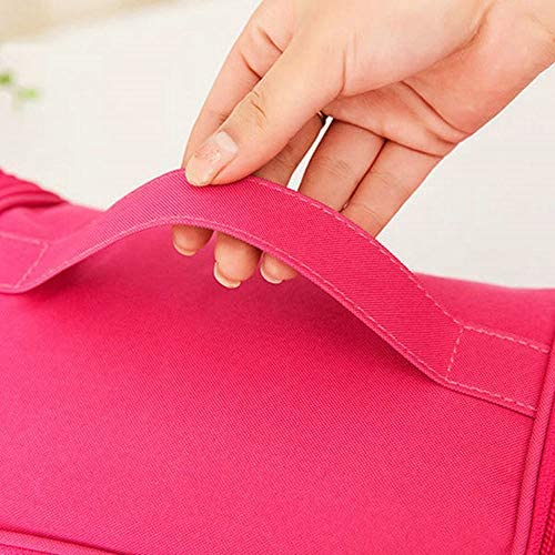 女性オックスフォード大容量収納袋化粧品バッグトラベルバッグ YZUEYT