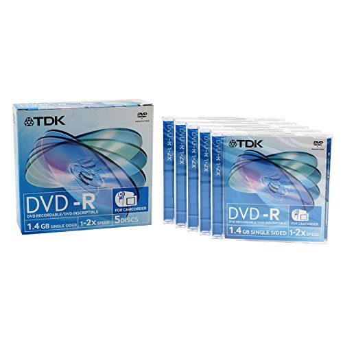 TDK Mini DVD-R Rohlinge 5er Pack (1.4GB, 2x Speed)