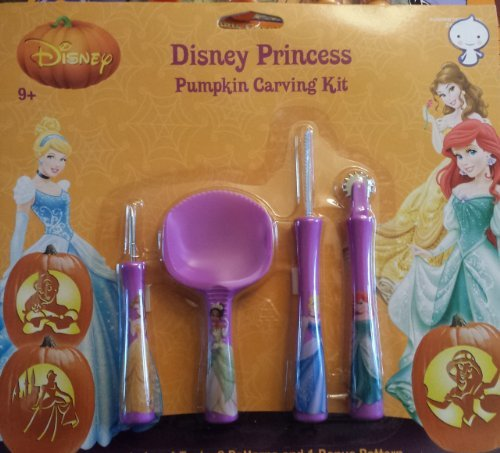 Disney Princess Pumpkin Carving Kit Garnish Tool Set with Patterns