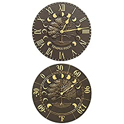 Whitehall Times and Seasons Clock and Thermometer Kit, French Bronze