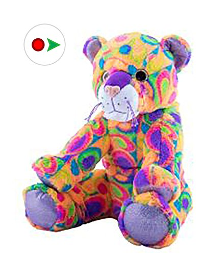 Stuffems Toy Shop Record Your Own Plush 16 inch Crazy The Cat - Ready 2 Love in a Few Easy Steps (Crazy Vermont Teddy Bear)