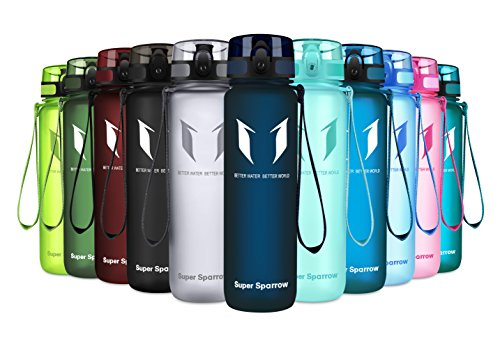 Super Sparrow Sports Water Bottle – 350ml-500ml-1000ml – Non-Toxic BPA Free & Eco-Friendly Tritan Co-Polyester Plastic – Fast Water Flow, Flip Top, Opens with 1-Click – (Blueberry, 1500ml-50oz)