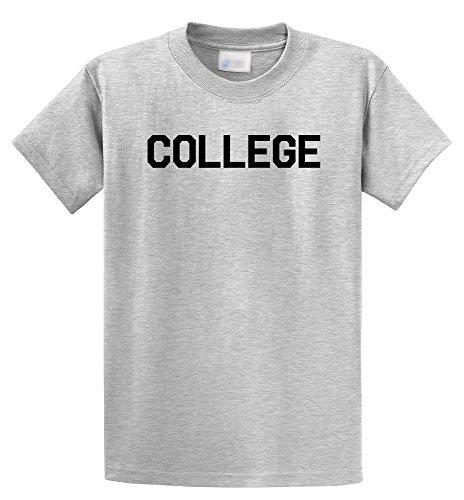 Comical Shirt Men's College Funny Animal House University Shirt Ash Grey 2XL - University Ash Grey T-shirt