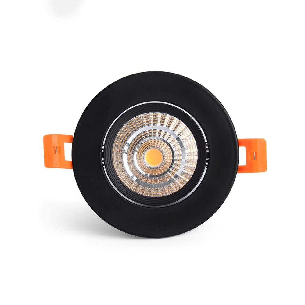Faretti da Mogicry Faretto da Incasso a LED orientabile 3W Faretto Girevole da Lavoro orientabile Faretto da Incasso per Uso Domestico Decorazione Plafoniera da soffitto COB 3000//4000//6500k 55-60mm