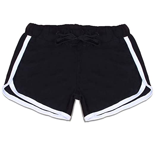 Image Unavailable. Image not available for. Color  Weixinbuy Women Girls  Sports Shorts Gym Running Workout Waistband Yoga Shorts Summer Pants 5e7cac67af9