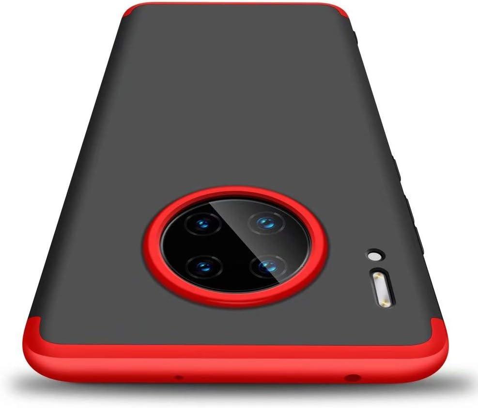 AILZH Housse Compatible pour Coque Huawei Mate 30 Pro 5G Coque Rigide Hard Shell Housse Protection Totale Antichoc Pare-Chocs Bumper Anti-Rayures Cover Case Matte Noir