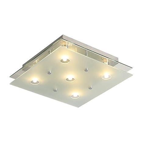 Moderno LED Luz de techo Square Vidrio Crystal Pantalla ...